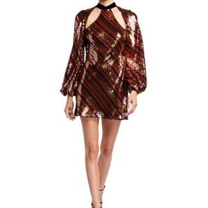 NWT - RIXO Harriet sequin mini dress - size L